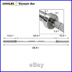 1000 lb Olympic Chromed Weight Bar 7' Olympic Barbell Multipurpose Weightlifting
