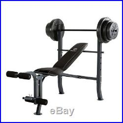 100 lb. Weight Set with Bar, Leg Developer, Adjustable Bench Press, and Weights