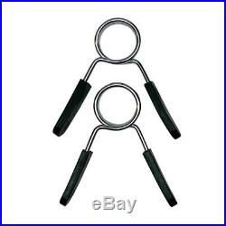 2 Olympic Barbell Clamps Clips Dumbbell Bar Collars Weight Spring Locks x2