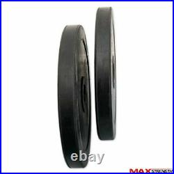 2 Olympic Rubber Coated Plates 30kg Weight Lifting Disc Pair Gym Bar 5cm