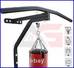 2 in 1 Punch Bag Wall Bracket With Pull up bar for Chin Up Exercise Heavy Duty