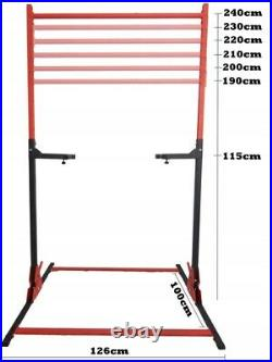 2in1 Adjustable Pull-up Bar & Dip Stand Power Rack Gym Heavy Duty 320KG