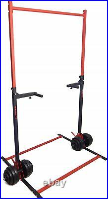 2in1 Adjustable Pull-up Bar & Dip Stands Push Up Power Rack Gym Fitness Workout