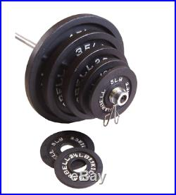 300 lb. Olympic Bar and Weights Set Barbell Plates Bench Press Dead Lift Squat