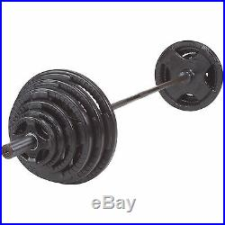 300 lb. Olympic Rubber Grip Weight Set with Chrome Bar Body-Solid OSR300S