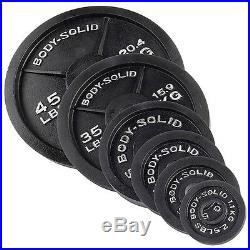 300 lb. Olympic Weight Plate Set with Bar OSB300S Body-Solid Strength Training
