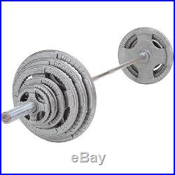 300 lb Steel Grip Weight Set with Bar and Collars Body-Solid Fitness OST300S