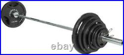 300lbs IRON Olympic Weight Set with BAR AND COLLARS IN HAND SHIPS TODAY