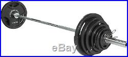 45 lb 7' Olympic Chrome Bar ONLY (300llb) Weight Barbell Fitness Gear 2 Clips