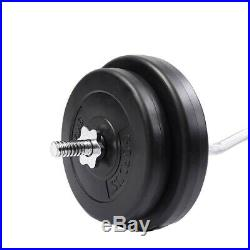 47 Barbell Weight Bar Standard EZ Curl Bar Home Gym Fitness Exercise Lift Set