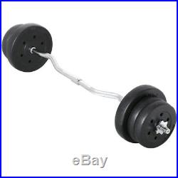 55LB Olympic Barbell Dumbbell Weight Set Gym Lifting Exercise Curl Bar Workkout