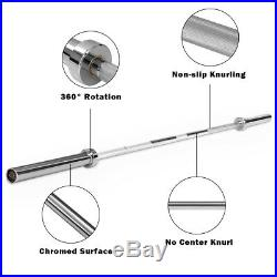 700 lb Olympic Chromed Weight Bar 7' Olympic Barbell Multipurpose Weight Lifting