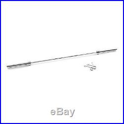 7 foot 84 Olympic Chrome 2 Bar Barbell Fits 2 Weight Plates