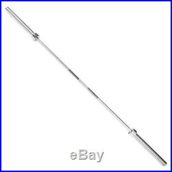 7 ft OLYMPIC BAR 2 CHROME -7 FT 45 LB OLYMPIC BARBELL PROMPT SHIPPING