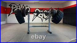 82 Fat Bar, Bench Beam Bar, Thick Square Fat Grip with Collars