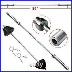 86 Chrome Olympic Barbell Bar Weight Lifting Gym Workout NEW -WOW