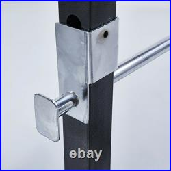 Adjustable Barbell Squat Rack Weight Lifting Bench Press Horizontal Pull Up Bar