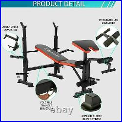 Adjustable LiftingIWeight Bench Set With, Weights And Bar 330lbs Workout All`2in1