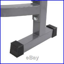 Adjustable Lifting Weight Bench Set Weights Bar Press Workout Flat Strength Gym