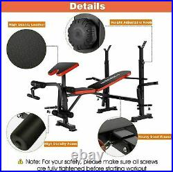 Adjustable Lifting Weight Bench Set With Weights And Bar 330lbs Workout All 2in1`Q