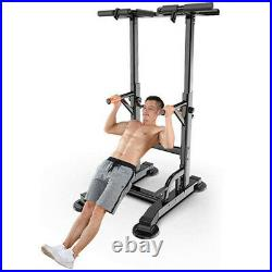 Adjustable Pull Up Bar Power Tower Dip Station Training Exercise Gym Fitness US