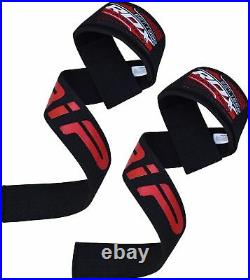 Authentic RDX Padded Weight Lifting Pro Straps Hand Wrist Brace Bar Training Gym