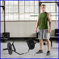 BLACK WEIGHT LIFT BAR Hex Dumbbell Gym Squat Train Muscle Trap Deadlift Barbell