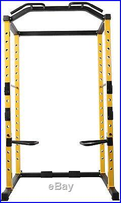 BalanceFrom 1000-Pound Capacity Adjustable Power Cage Rack Pull Up Dip Bar