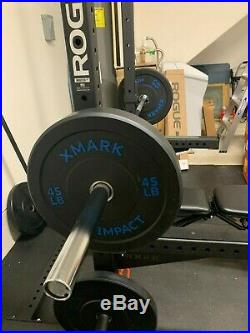 Barbell Olympic Bar Chrome 7ft x 2inch 1200LB capacity! Includes 2 Steel Clips