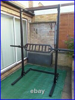 Barbell Squat Stand Power Rack Freestanding Pull Up Bar-equipment Back In Stock