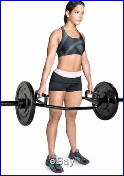 Black Weight Lift Bar Hex Dumbbell Squat Gym Trap Deadlift Barbell Train Muscle