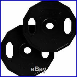 BodyRip Olympic Polygonal Weights Set 100KG 6FT Barbell Bar Plates Collars Gym