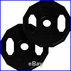 BodyRip Olympic Polygonal Weights Set 85KG 6FT Barbell Bar Plates Collars Gym