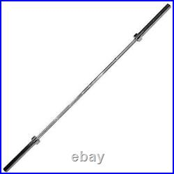 Body-Solid Chrome 7' Olympic Bar OB86 Strength Training 600 lb Weight Capacity