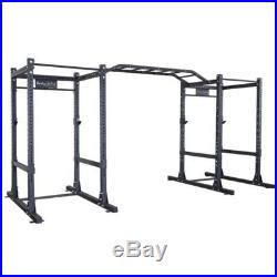 Body-Solid Double Commercial Power Cage Squat Rack with Monkey Bars