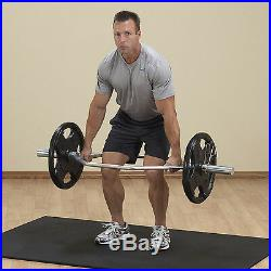 Body-Solid Olympic Shrug Bar OTB50 Trap Hex Deadlift Powerlifting Weight Bar
