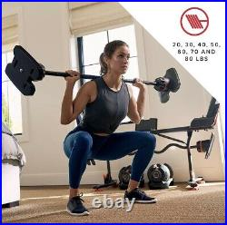 Bowflex SelectTech ST2080 Barbell with Curl Bar & Adjustable Weights NEW in Hand