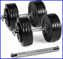Brand New 190lb (like 200lb) w connector bar Adjustable Dumbbell Weight Set
