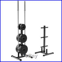 Bumper Olympic Weights Plates Tree Rack Barbell Bar Holder Stand Power Storage