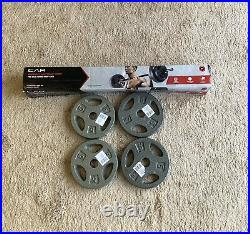 CAP 5 Barbell Bar Weight Set With Lock Collars and 20 Lbs Standard Weight Plates