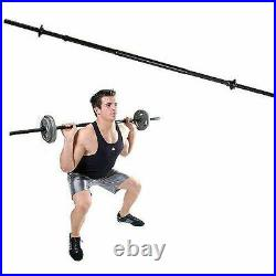 CAP 5 Ft Barbell Weightlifting Bar With Collars and 60 lb of Weight Plates 71.5 lb