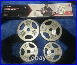 CAP Combo Curl Bar Weight Set With Lock Collars and 30 Lbs Standard Weight Plates