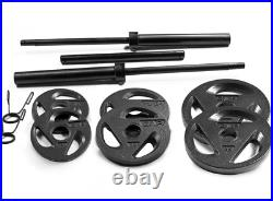 CAP Olympic 2 Grip Weight Plates, Barbells, Sets All Sizes 25 10 5 LB
