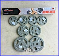 CAP Weight Lifting Bar + 40LB (2) 10LB (2) 5LB (4)2.5LB 1 Weight Plates Barbell