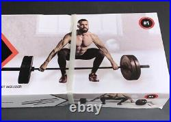 Cap 7' FT Olympic 30 LB Weightlifting Bar Barbell Holds 2 Plates Steel 3 Piece