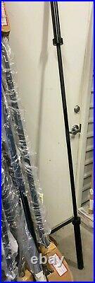 Cap 84 Olympic Black Bar Barbell. 1 Solid Piece Bar. Max Load Capacity 500 Lbs