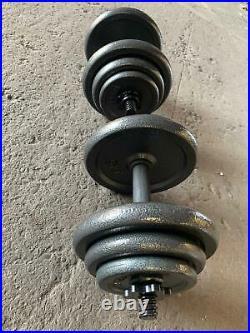 Cast Iron Dumbbell Set 36kg (18kg each bar) (24H EXPRESS DELIVERY)