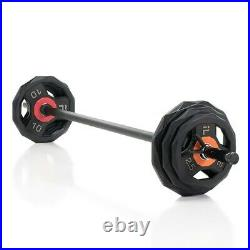 Curl Bar with weights Pro Elite Pump Set with Lock Jaw Collars