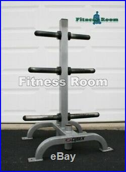 Cybex Commercial Olympic Weight Plates Tree & Bar Storage -Shipping Not Included
