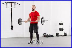 DOMYOS 27.5kg Weight Lifting Kit Gym 7.5kg Barbell Bar 4 x 5kg Plates Discs
